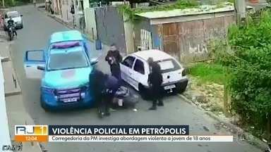 Corregedoria da PM apura caso de violência policial em Petrópolis - Policiais militares abordaram homem com truculência e o agrediram.