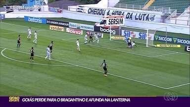 Goiás perde para o Bragantino e se afunda na lanterna - Time esmeraldino joga mal mais uma vez e continua isolado na última colocação.
