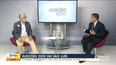 Candidato à prefeitura de São Luís, Silvio Antônio (PRTB), é entrevistado no JM1 - O candidato apresentou suas propostas para a prefeitura de São Luís.