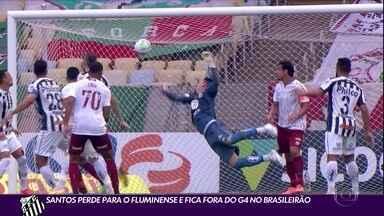 Santos perde para o Fluminense e fica fora do G4 no Brasileirão - Santos perde para o Fluminense e fica fora do G4 no Brasileirão