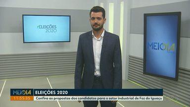 Confira as propostas dos candidatos a prefeito para o setor industrial de Foz do Iguaçu - Cinco candidatos responderam a pergunta nesta segunda-feira.