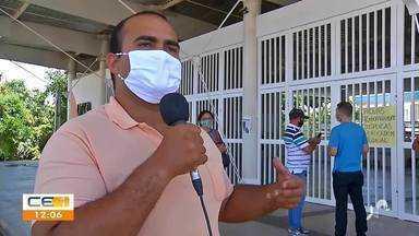 Candidatos descobrem suspensão de processo seletivo no Cariri ao chegar em local de prova - Saiba mais em g1.com.br/ce