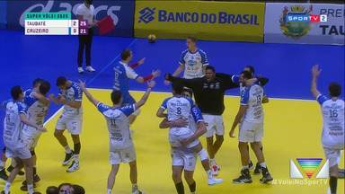 Taubaté vence Cruzeiro e é campeão do Troféu Super Vôlei - Depois do vice no Paulista, equipe conquista primeiro título da temporada.