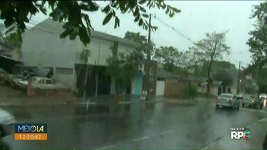 Chuva intensa atinge o noroeste nesta segunda-feira - Pancadas isoladas devem seguir na região durante a semana.
