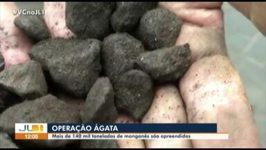 Operação da polícia apreende mais de 140 toneladas de manganês - Operação da polícia apreende mais de 140 toneladas de manganês