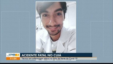 Acidente mata técnico em enfermagem que estava na linha da Covid-19, em João Pessoa - Acidente fatal no Cuiá.