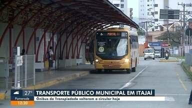 Transporte público municipal de Itajaí volta a funcionar nesta segunda-feira, 26 - Transporte público municipal de Itajaí volta a funcionar nesta segunda-feira, 26