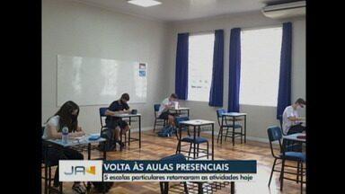Cinco escolas particulares retornaram as aulas presenciais hoje (26) - Cinco escolas particulares retornaram as aulas presenciais hoje (26)