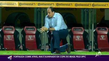 Fortaleza se recupera no tempo regular, mas é eliminado da Copa do Brasil nos pênaltis - Fortaleza se recupera no tempo regular, mas é eliminado da Copa do Brasil nos pênaltis