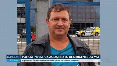 Polícia investiga assassinato de dirigente do MST - Agricultor foi encontrado morto perto de assentamento em Rio Bonito do Iguaçu, regial centro-sul do estado.