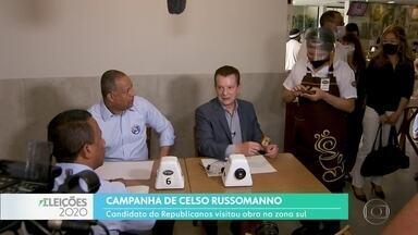 Celso Russomanno fez campanha na Vila Mascote - O candidato disse que vai simplificar regras para o licenciamento de obras.