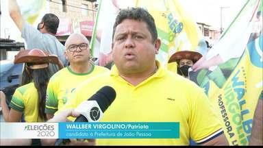 Veja a agenda de campanha de Wallber Virgolino nesta segunda-feira - Candidato do Patriota à prefeitura de João Pessoa.