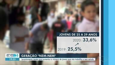 Levantamento revela que aumentou número de jovens que não trabalha nem estuda - Confira na reportagem.