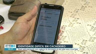 Moradores que precisam tirar carteira de identidade encontram problemas em Cachoeiro, ES - Confira na reportagem.