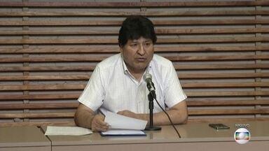 Justiça Boliviana anula ordem de prisão contra ex-presidente Evo Morales - Tribunal considerou que Morales não foi intimado corretamente. Na semana passada, ex-ministro dele Luis Arce, venceu a eleição para presidente.