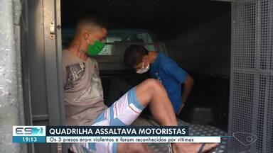 Polícia prende quadrilha que assaltava motoristas de aplicativo em Cariacica, ES - Confira na reportagem.