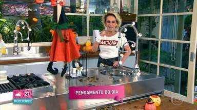 Programa de 28/10/2020 - Dia das Bruxas: Faltam três dias para o Halloween: Ana Maria Braga apresenta dicas para aproveitar a data.