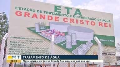 Nova estação de tratamento de água vai beneficiar 72 bairros de Várzea Grande - Nova estação de tratamento de água vai beneficiar 72 bairros de Várzea Grande