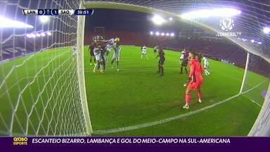 Escanteio bizarro, lambança e gol do meio-campo são destaques na Sul-Americana - Escanteio bizarro, lambança e gol do meio-campo são destaques na Sul-Americana