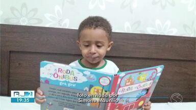 Moradores das cidades da região enviam fotos e vídeos celebrando o Dia Nacional do Livro - Fotos e vídeos foram enviados pelo WhatsApp da TV Rio Sul no número (24) 99313-9599.