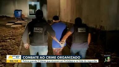 Dois homens são presos em operações de combate ao crime organizado - Saiba mais em g1.com.br/ce