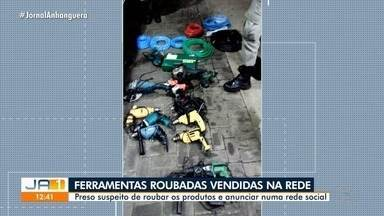 Homem é preso suspeito de receptação de ferramentas roubadas, em Goiânia - Ele anunciava os equipamentos roubados em uma rede social.