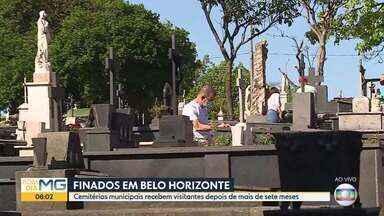 Cemitérios municipais de BH recebem visitas hoje, sete meses depois de fecharem as portas - Autorização vale só para o dia de finados.