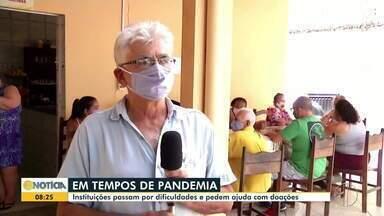 Doações para instituições filantrópicas caem devido à pandemia - Situação provoca dificuldades financeiras nas instituições.