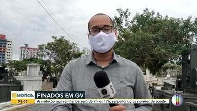 Confira como programação do Dia de Finados em Governador Valadares - Cemitérios não tiveram celebrações religiosas devido à pandemia.