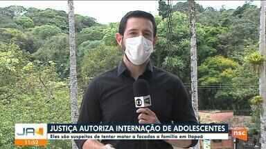 Justiça decreta internação de suspeitos de tentar matar família em Itapoá - Justiça decreta internação de suspeitos de tentar matar família em Itapoá