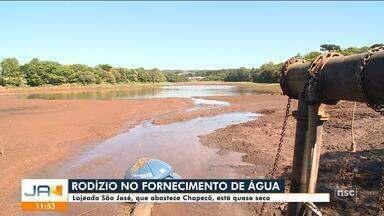 Chapecó tem rodízio de fornecimento de água - Chapecó tem rodízio de fornecimento de água