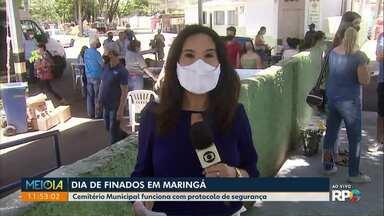 Dia de Finados em Maringá - Protocolos de segurança foram adotados em razão da pandemia.