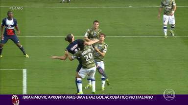 Ibrahimovic apronta mais uma e marca golaço no Campeonato Italiano - Ibrahimovic apronta mais uma e marca golaço no Campeonato Italiano