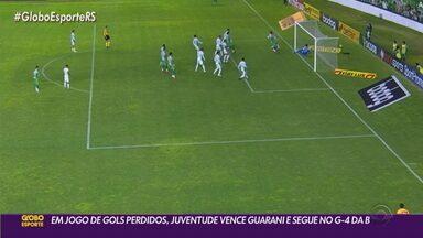 Em partida de gols perdidos, Juventude vence o Guarani na Série B - Veja como foi a vitória dos gaúchos.