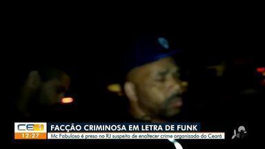 Funkeiro suspeito de promover líder de facção criminosa do Ceará é preso no Rio de Janeiro - Saiba mais em g1.com.br/ce