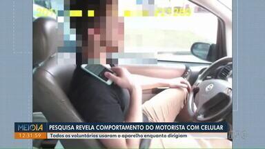 Pesquisa revela comportamento de motoristas com o uso de celular - Todos os voluntários usaram o aparelho enquanto dirigiam.