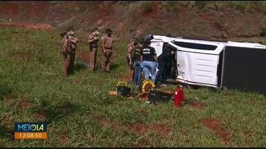 Homem morre durante perseguição policial em Maringá - Suspeito perdeu o controle da direção e capotou o veículo.