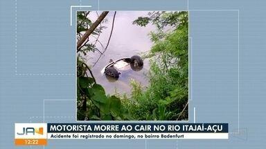 Mulher morre atropelada em Gaspar e home morre ao cair no Rio Itajaí-Açu em Blumenau - Mulher morre atropelada em Gaspar e home morre ao cair no Rio Itajaí-Açu em Blumenau