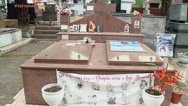 Túmulo de Bernardo Boldrini é alvo de vandalismo em cemitério de Santa Maria - Assista ao vídeo.