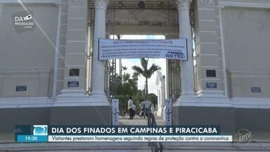 Dia de Finados é de homenagens com restrições e medidas de proteção - Confira como foi a movimentação em cemitérios de Campinas e Piracicaba.