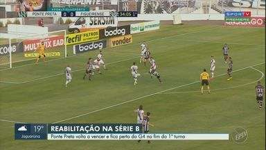 De virada, Ponte Preta bate o Figueirense em casa e encerra turno colada no G-4 - Com gols de Pato e Apodi, Macaca interrompe série negativa e termina o 1º turno da Série B com 30 pontos.