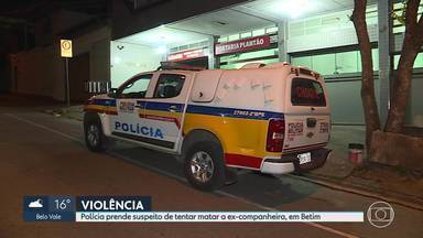Suspeito de esfaquear a ex-companheira é preso, em Betim - Luan do Santos Barbosa, de 33 anos, foi preso no bairro Citrolândia.