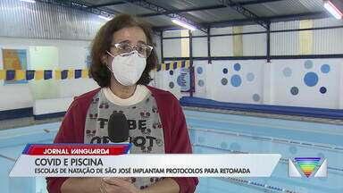 Escolas de natação de São José retomam aulas - Estabelecimentos seguem protocolos de saúde.