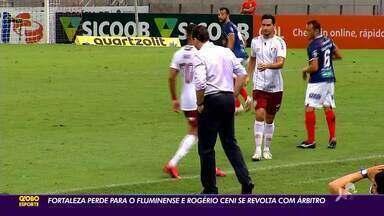 Fortaleza perde para Fluminense e Ceni se revolta com arbitragem - Fortaleza perde para Fluminense e Ceni se revolta com arbitragem