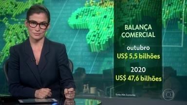 Superávit da Balança Comercial brasileira atinge US$ 5,5 bilhões, em outubro - Saldo acumulado no ano já ultrapassa os US$ 47 bilhões