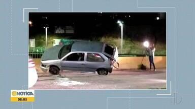 Ipatinga registra dois acidentes de trânsito nos bairros Iguaçu e Bethânia - Na segunda ocorrência, casal ficou ferido após cair em canal.