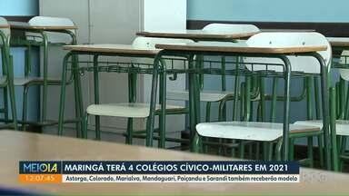 Maringá terá 4 colégios cívico-militares em 2021 - Astorga, Colorado, Marialva, Mandaguari, Paiçandu e Sarandi também receberão modelo.