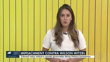 Tribunal Misto decide dar continuidade ao processo de impeachment de Witzel - Também ficou decidido que o governador afastado do RJ deverá deixar o Palácio Laranjeiras e terá o salário cortado.