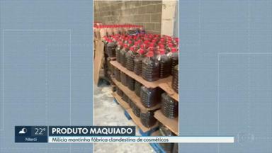 Milícia mantinha fábrica clandestina de comésticos - A polícia nesta sexta (06) descobriu uma fábrica de cosméticos ligada ao crime organizado.