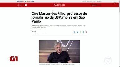 Ciro Marcondes Filho morre em São Paulo - Ele era professor da ECA-USP desde os anos de 1980.
